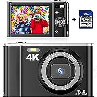 Digitalkamera 4K mit 32 GB SD Karte Mini-Videokamera 48 MP 2,8-Zoll-LCD-Akku Wiederaufladbare Taschenkamera für…