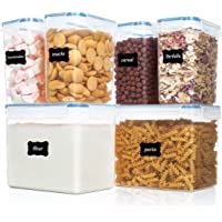 Vtopmart boîtes de Conservation Alimentaire sans BPA de Nourriture en Plastique avec Couvercle,Ensemble De 6 + 24…