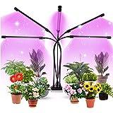 Aogled Lampe LED Horticole 50W,5 Têtes Lampe pour Plante avec Clip 150LEDs avec 360° Adjustable,3/9/12H Cycle Minuterie,3 Mod