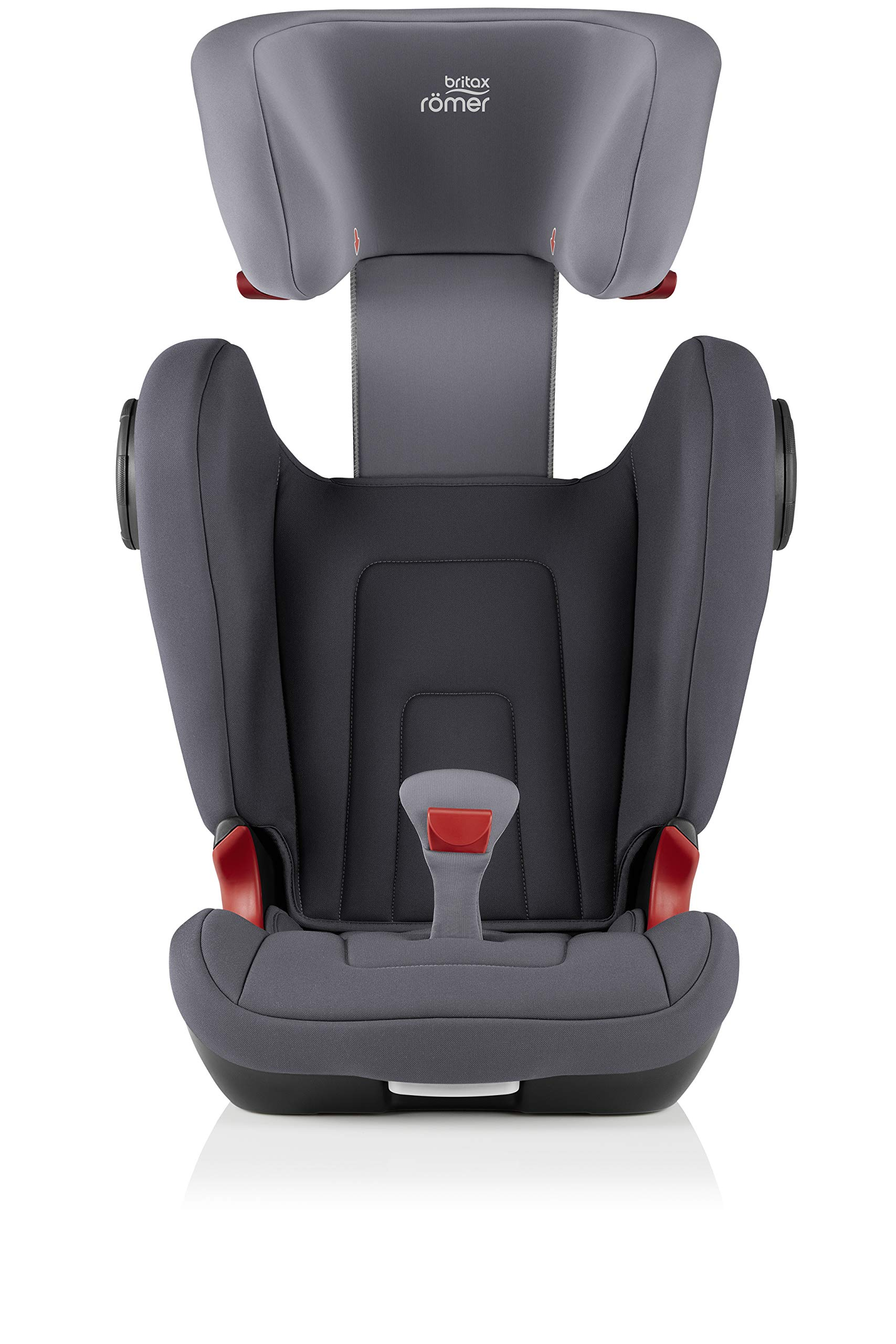 Britax Römer KIDFIX² S Group 2-3 (15-36kg) Car Seat - Storm Grey  Advanced side impact protection - sict offers superior protection to your child in the event of a side collision. reducing impact forces by minimising the distance between the car and the car seat. Secure guard - helps to protect your child's delicate abdominal area by adding an extra - a 4th - contact point to the 3-point seat belt. High back booster - protects your child in 3 ways: provides head to hip protection; belt guides provide correct positioning of the seat belt and the padded headrest provides safety and comfort. 7