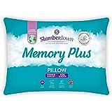 Slumberdown Memory Plus witte kussen stevige ondersteuning ontworpen voor rug- en zijslapers bed kussens