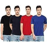 MYO Plain T-Shirts for Men/Boys | Cotton Half Sleeves T-Shirt for Mens | Cotton T-Shirt for Men's/Boy's Combo Pack of 4
