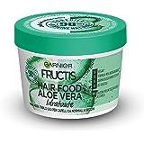 Garnier Maschera Idratante Fructis Hair Food, Maschera Riparatrice 3 in 1 con Formula Vegana per Capelli normali, Aloe, 390 m