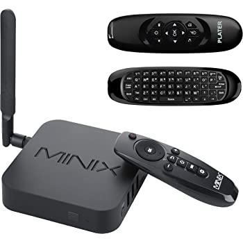 MINIX Neo U1 Android Lollipop 5.1.1 Media Hub Smart TV 4K Amlogic S905 Quad-core HDMI2.0 2GB/16GB Dual-Band 2x2 MIMO WiFi Gigabit Ethernet Bluetooth 4.1 / Plater® C120 Double-sided Wireless Remote