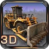 Parking chantier de construction 3D...