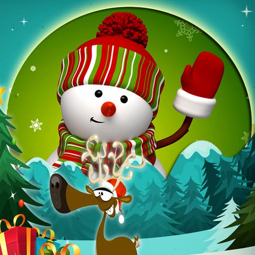 Lustige Weihnachtsbilderrahmen -
