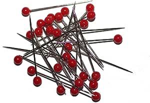 Buntkopfstecknadeln 52 mm Nadeln Stecknadeln Markiernadeln // Stecknadel mit Strass Kopf 30 Stk