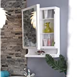 Happer Premium Wall Mounted Mirror and Storage Cabinet, New Look (White)