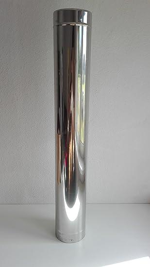 Top Edelstahl Rohr Abgas Schornstein einwandig 0,6mm Ofen Kamin 130mm  ZB13
