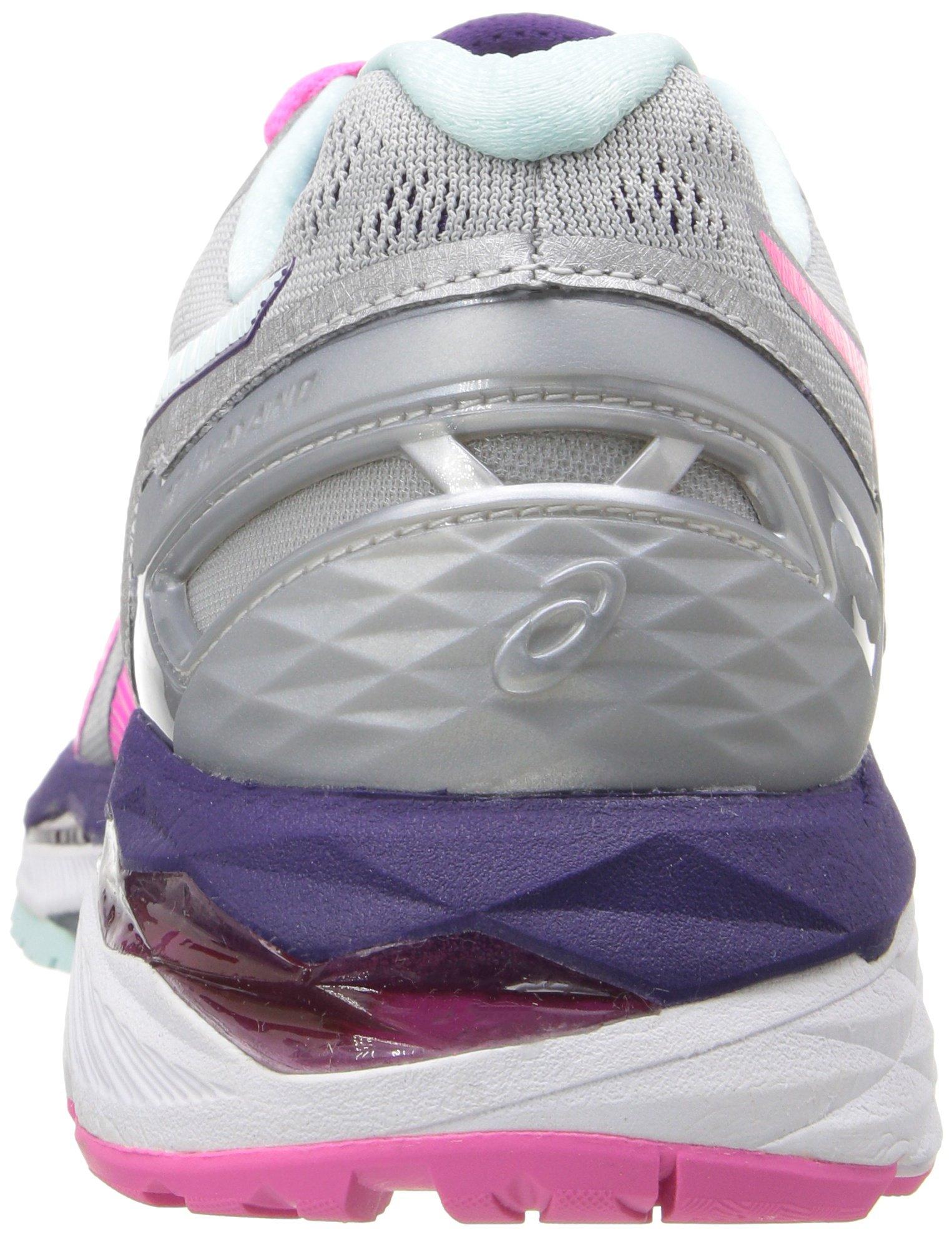 81C5ka5ZgRL - ASICS Women's Gel-Kayano 23 Running Shoe, Silver/Pink Glow/Parachute Purple, 5.5 UK