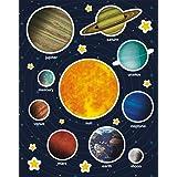 APLI Kids 15174 - Bolsa de gomets, 12 hojas, Sistema solar