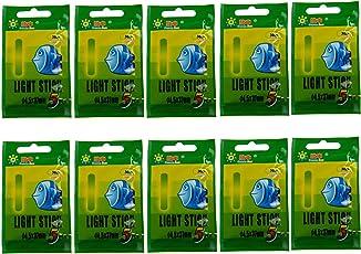 Angeln Leuchtstäbe, 50 stücke (10 taschen) 4,5 * 37mm Float Glow Stick Nachtfischen Grün Fluoreszierendes Licht Angeln Leuchtstäbe