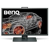 BenQ PD3200Q Monitor per Designer 32 Pollici QHD, Modalità Darkroom, CAD/CAM, Funzione KVM Switch, Grigio/Grigio lucido