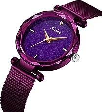 Frauen Uhr, Frau Fashion Luxus Handgelenk Uhren für Damen Kleid Business Casual Wasserdicht Quarz Armbanduhr für Frau mit Edelstahl Mesh Band und Zifferblatt