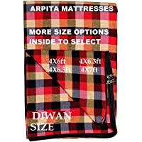 Cotton Mattress Protector Cover for Single Bed Diwan (72x48x4-inch, 4/6 ft, Multicolour)