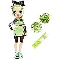 Rainbow High Mannequins Vêtements de Styliste, Pompons Jade Hunter, Poupée Thème Vert Serie Pom girls, Cadeau parfait…