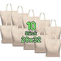 Lot de 10 sacs en coton 28 x 32 cm - Sac de rangement pour pharmacie - Sac de transport - Sac de transport - Sac cadeau…