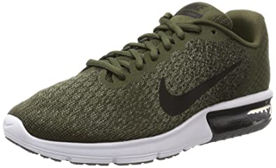 ff2ff821585eb Nike Men s Air Max Sequent 2 Olive Green Running Shoes  Buy Online at Low  Prices in India - Amazon.in