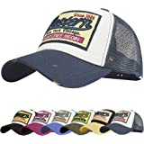 UMIPUBO Baseball Cap Mesh Hats for Men Women Unisex Embroidered Letter Patch Casual Hats Hip Hop Sun Hats