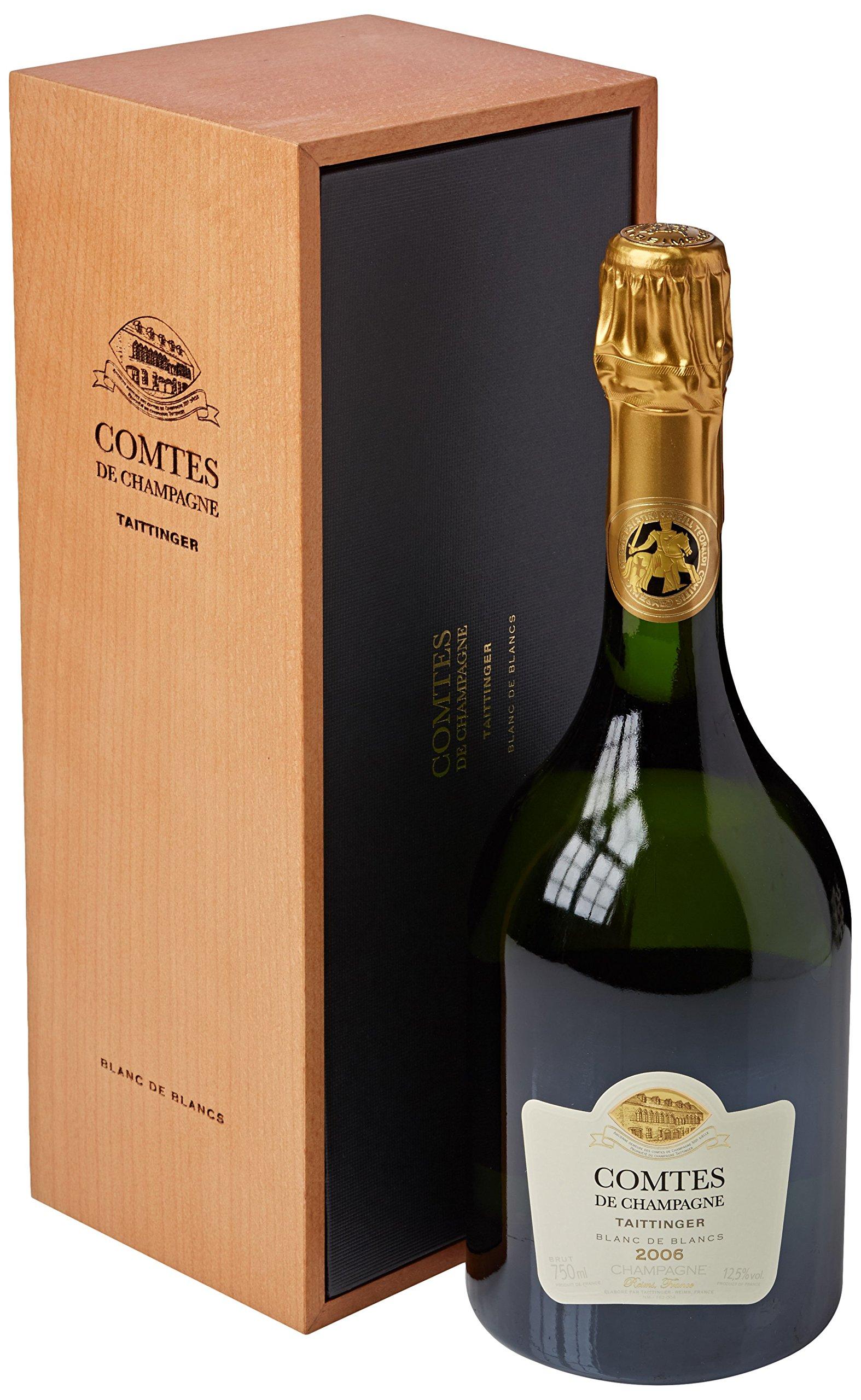 Taittinger Comtes de Blanc de Blancs Brut 2006 Champagne in Gift Box 2006, 75 cl