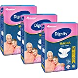 "Dignity Magna Adult Diapers Medium 10 Pcs, Waist Size 28""-45"", (Pack of 3)"