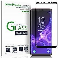 amFilm Panzerglas Displayschutzfolie für Samsung Galaxy S9, Vollständige Abdeckung (3D Abgerundete) Schutzfolie für Samsung Galaxy S9 (1 Stück, Schwarz)