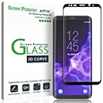 Galaxy S9 Screen Protector Glass, amFilm Full Cover Tempered Glass Screen Protector with Dot Matrix for Samsung Galaxy S9