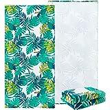 NovForth Mikrofaser Strandtuch, Strandhandtuch Tropische Stimmung Weiches Handtuch Schnelltrocknend Ideal Als Badetuch Saunat