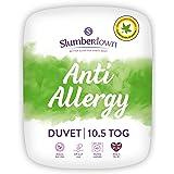 Slumberdown Dekbed met allergieën, wit, eenpersoonsbed