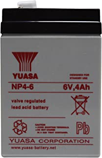 YUASA YUCELL 6 VOLT 4AH BATTERY ELECTRIC TOY CAR GENUINE Y4-6 NP4.5-6 NP4-6