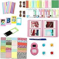 Leebotree Accessoires pour Appareil Photo Instax Mini 9, Mini 8/8+, Le Package Comprend Album, lentille, filtres, Cadres, Stylo et Autres (Flamingo Rosa sans étui)