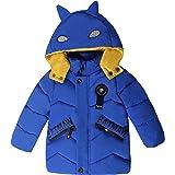 Harpia Abrigo acolchado con capucha para niños, diseño de zorro, para invierno y otoño, para exteriores (niños de 3 a 13 años