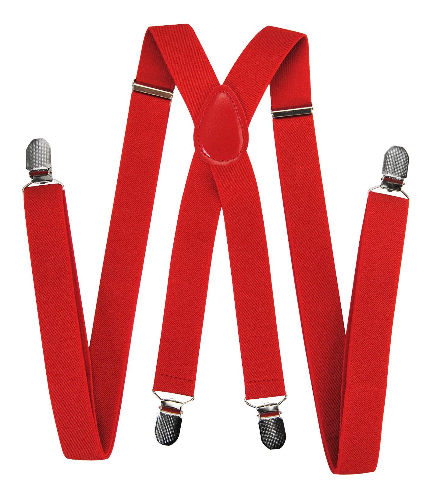 Bretelle con clip a forma di X