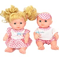FunBlast Boy & Girl Doll Set for Kids, Baby Toy Realistic Silicone Baby Dolls for Kids Girls – Height -18 cm (Multicolor…