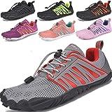 JACKSHIBO Zapatos descalzos Hombre Mujer Zapatillas de Trail Running Minimalistas Zapatillas de Deporte Secado rápido de vera