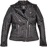Urban Leather Michelle Ladies Michelle Fashion Giacca in Pelle da Donna Donna