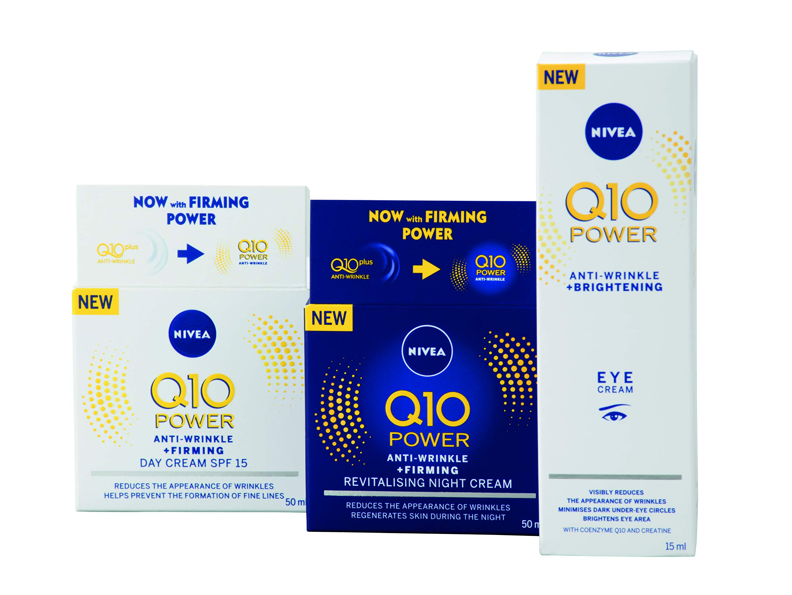 NIVEA Q10 Power Regime Pack de regalo antiarrugas Set de regalo con 3 productos NIVEA Power, día y noche régimen regalos…