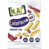 N.A! Nature Addicts - Crisp'Bean Finement Salé - Soufflés de Haricots, Légers et Délicats - 50% de Matières Grasses en Moins