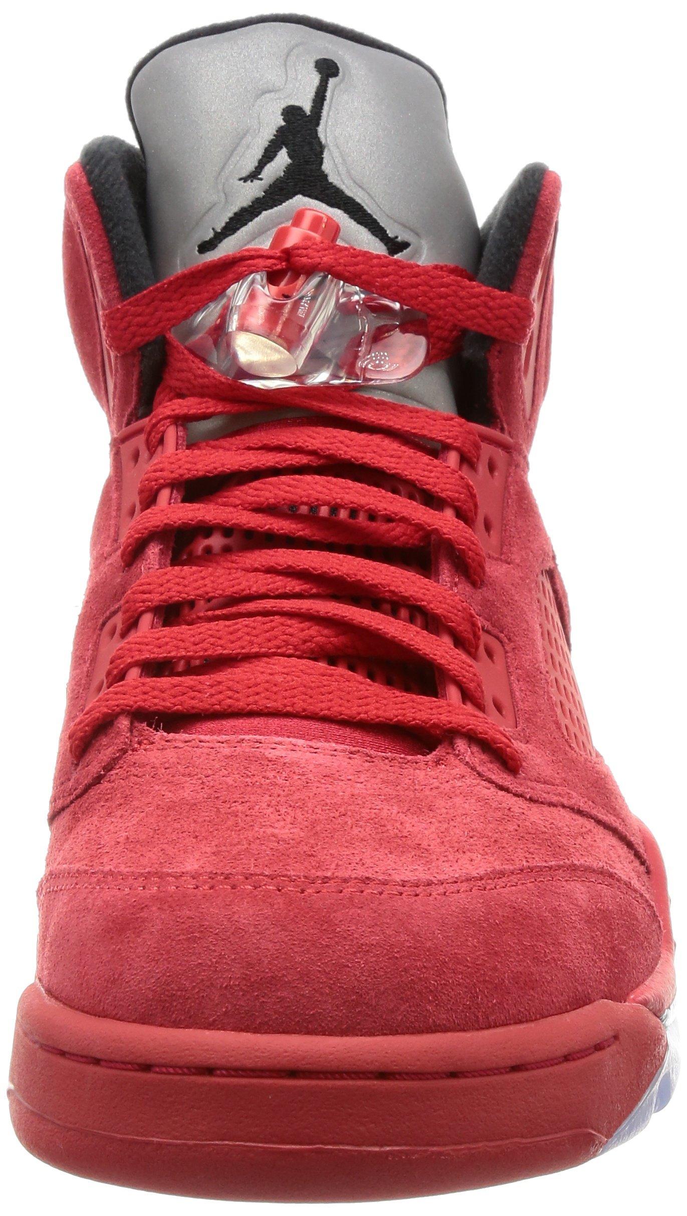 81CBR4iGnoL - Nike Air Jordan 5 Retro 'Red Suede' - 136027-602 - Size 9 -