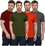 London Hills Men's Regular Fit T-Shirt (Pack of 4)