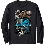 Jurassic World Paint Swipe Dinosaur Grid Manche Longue