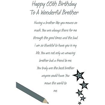 Brother 65th Birthday Card