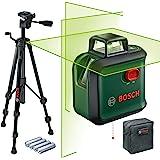 Bosch Home and Garden Kruislijnlaser AdvancedLevel 360 Set (Horizontale 360°-Laserlijn, Twee Verticale Lijnen En Loodpunt Ond