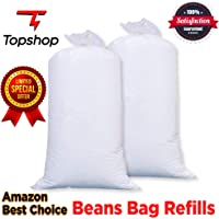Shop 24 Care High Density Bean Bag Refill/Bean Bag Fillers for Bean Bags - White (1.5 Kg)