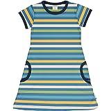 maxomorra M/ädchen Kleid gestreift Kurzarm Stripe