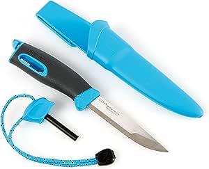 Light My Fire FIREKNIFE Bio - Survival Messer mit Feuerstahl und Scheide - Magnesium Feuerstarter Set für Outdoor - Cocoshell- Made in Schweden 100% BPA-Frei - Gürtelmesser für Bushcraft und Jagd
