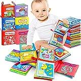 RenFox Libro Stoffa, Set Neonato, Quiet Book, Libro Tattile per Bambini, 6 Pezzi Libro Non Tossico Stoffa Morbida per Lo Svil