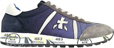 PREMIATA Scarpe Uomo Sneaker camoscio e Tessuto Lucy_4606 Blu