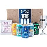 Cheers Dad Craft Beer Box Gift Set by Beer Hawk - Perfect Craft Beer Gift Hamper with 5 Craft Beer Cans,1 Tasting Glass…
