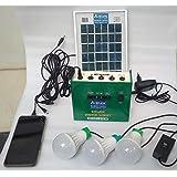 Belifal Solar Home Lighting System kit 6v DC 27Watts Stored Power & Three DC Bulbs & one 3Watts Solar Panel & DC 7.5V…